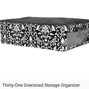 thirty-one Storage & Organization - NEW Black Oversized Storage Organizer NIP  27x18x8